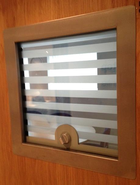 high security window - vision panel